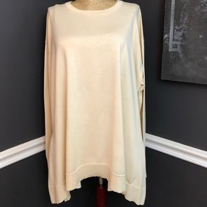 Worth over sized Cream Chamois Jersey Popover XL